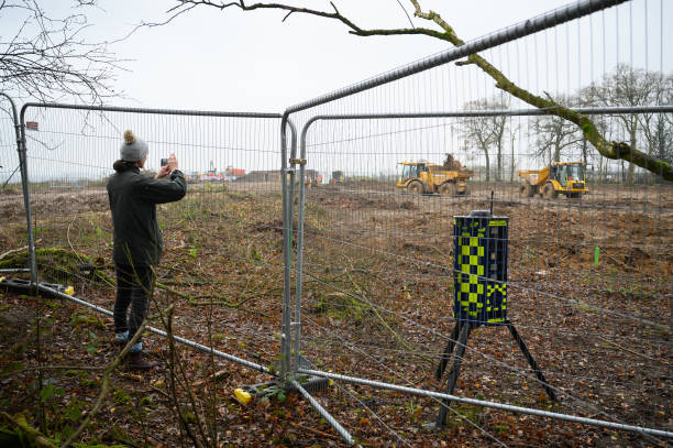 GBR: Woodlands Cleared As HS2 Construction Continues In Warwickshire