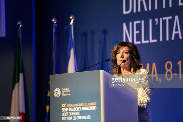 resident of the Italian Senate Maria Elisabetta Alberti Casellati during Congress of Notaries Cavalieri Hotel Rome on november 08 2018