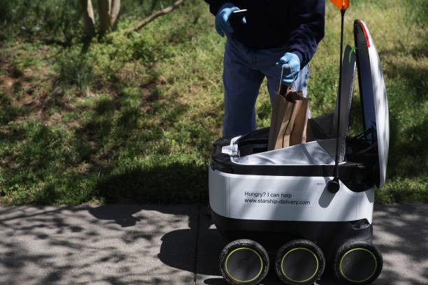 DC: Market Uses Robots To Deliver Orders To Limit Social Contact During Coronavirus Pandemic