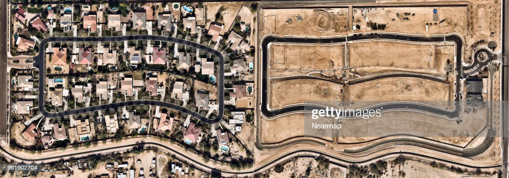 Residental Area in Phoenix, Arizona, USA : Stock Photo