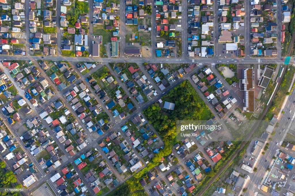 Residential aerial view : Stock Photo