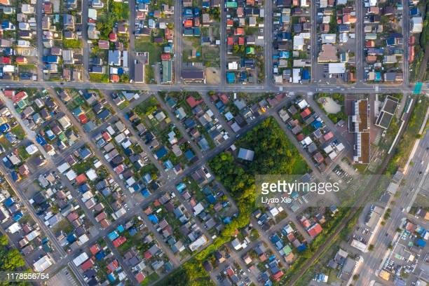 residential aerial view - liyao xie stock pictures, royalty-free photos & images