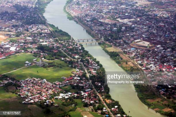 residential and agricultural land, south sulawesi rice fields, indonesia - makassar stock pictures, royalty-free photos & images
