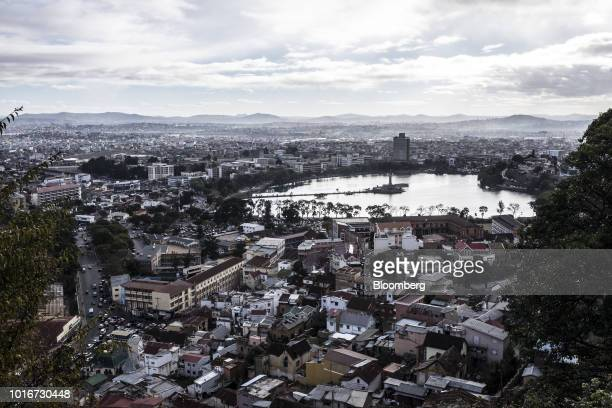 Residential and commercial building stand in an aerial photograph taken over Antananarivo Madagascar on Tuesday July 24 2018 Madagascar's gross...