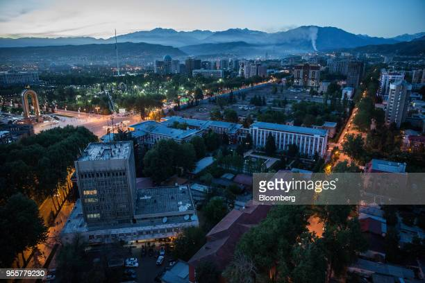 Residential and commercial buildings stand in Dushanbe Tajikistan on Saturday April 21 2018 Flung into independence after the Soviet Union collapsed...
