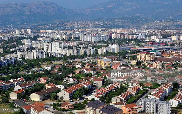 Residential and commercial buildings stand on the city skyline seen from Gorica hill in Podgorica Montenegro on Saturday June 2015 We had economic...