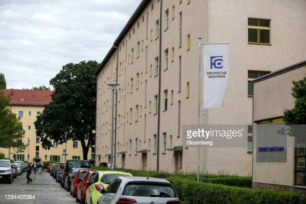 Residential apartment block on the Carl Legien modernist housing estate, operated by Deutsche Wohnen SE, in Berlin, Germany, on Monday, Aug. 2, 2021....