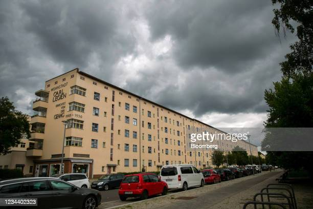 Residential apartment blocks on the Carl Legien modernist housing estate, operated by Deutsche Wohnen SE, in Berlin, Germany, on Monday, Aug. 2,...