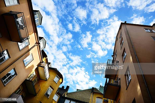residential apartment buildings - stockholm stock pictures, royalty-free photos & images