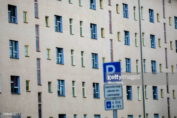 Residential apartments on the Carl Legien modernist housing estate, operated by Deutsche Wohnen SE, in Berlin, Germany, on Monday, Aug. 2, 2021....