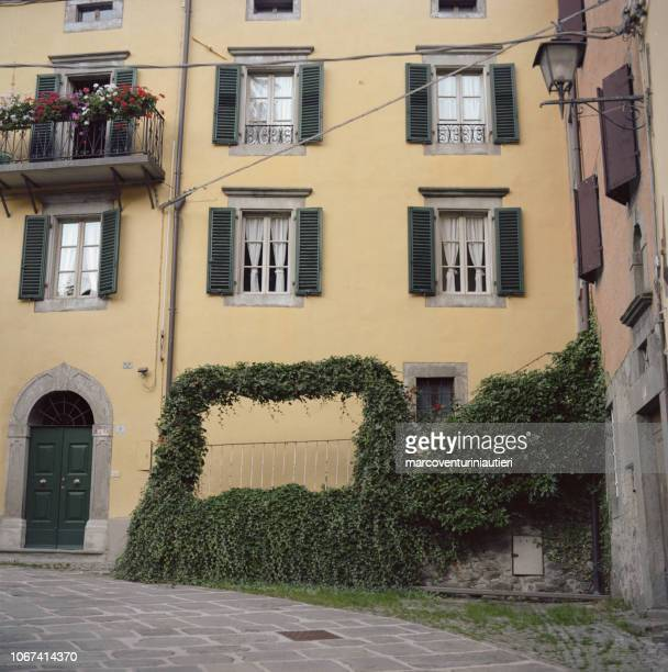 residential architecture in Fiumalbo, Italian village