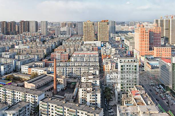 residential area at very high population density - shenyang stock pictures, royalty-free photos & images
