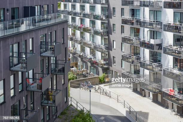 residential area in city - flat stock pictures, royalty-free photos & images