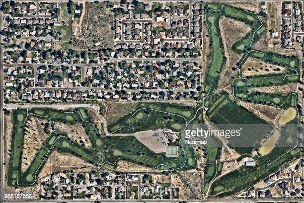 residential area in grand junction, colorado, united states - grand junction stock-fotos und bilder