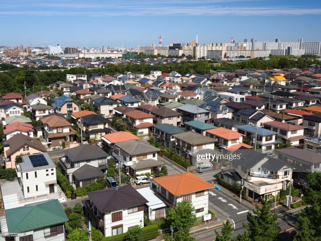 東京近郊の住宅地 : ストックフォト