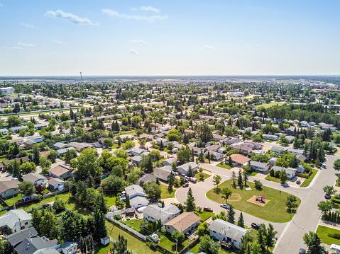 Residential area of Grande Prairie, Alberta, Canada 862780746