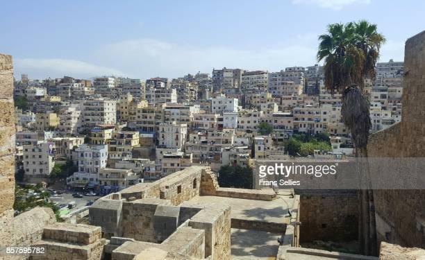 residential area of tripoli (lebanon), seen from the citadel - libanon stock-fotos und bilder