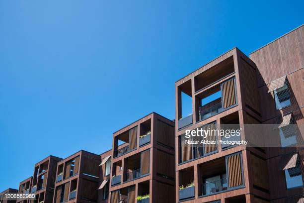 residential block in a row. - housing development stock pictures, royalty-free photos & images