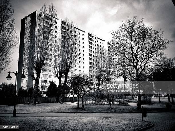Residential Block Seen From Park