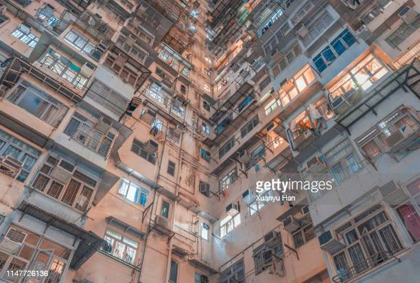 residential building at night - recessed lighting stock pictures, royalty-free photos & images