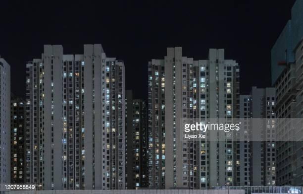 residential building facade - liyao xie stock-fotos und bilder
