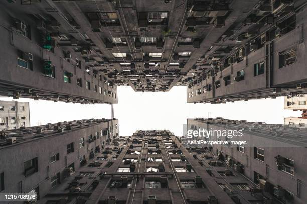 residential building in hong kong - great recession stock pictures, royalty-free photos & images