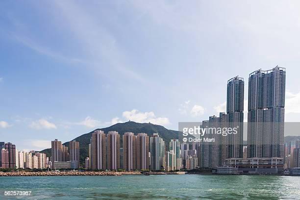 residential building in hong kong - didier marti stock photos and pictures