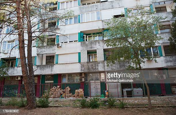 A residential building on August 8 2013 in Podgorica Montenegro