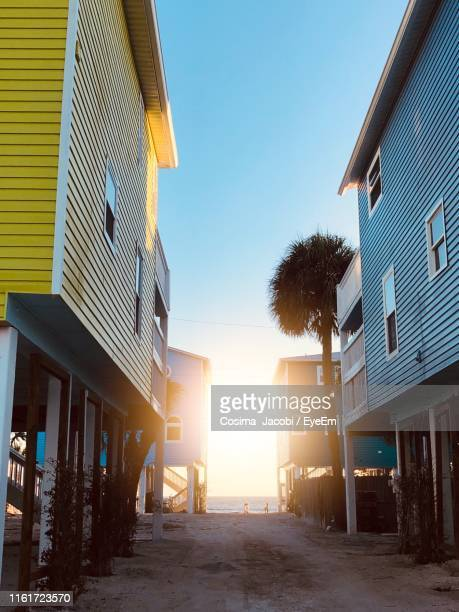 residential buildings against clear blue sky - fort myers beach stock pictures, royalty-free photos & images