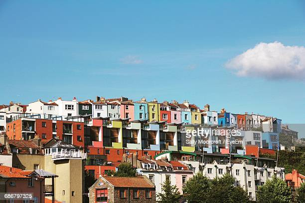 residential buildings against sky - bristol stock photos and pictures