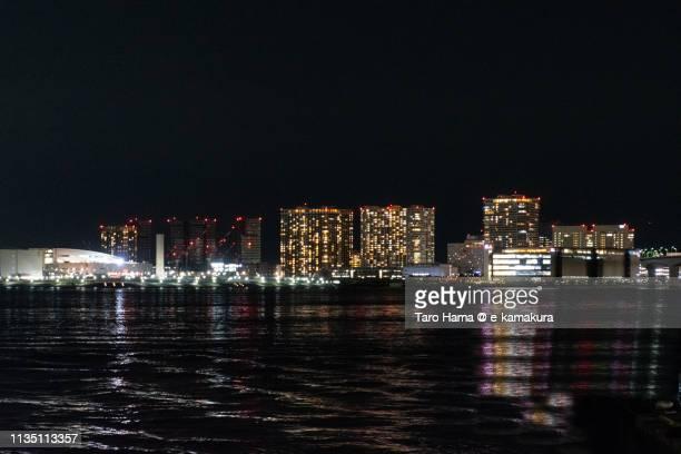 Residential buildings in Ariake Pier in Tokyo in Japan