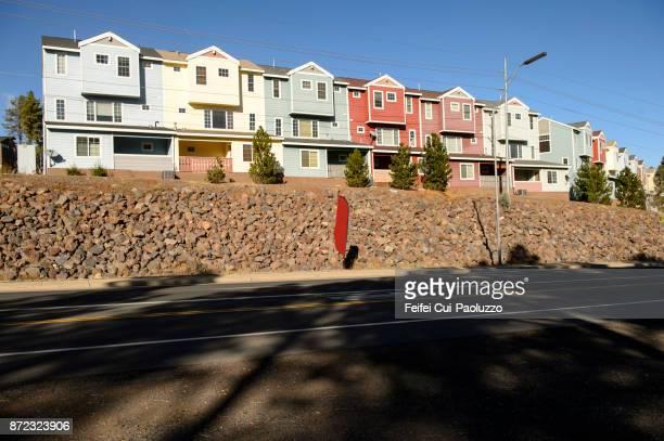 Residential buildings in Flagstaff, Arizona, USA