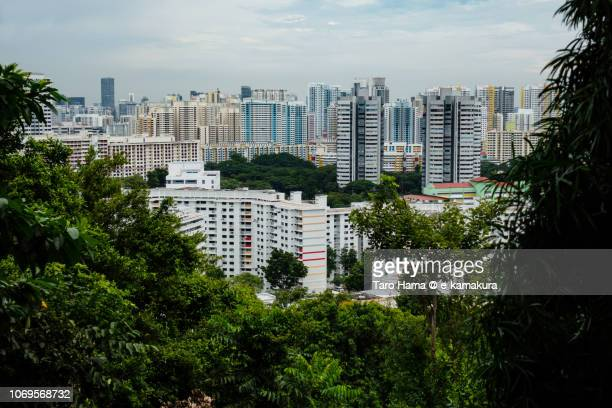 Residential buildings in suburb of Singapore city