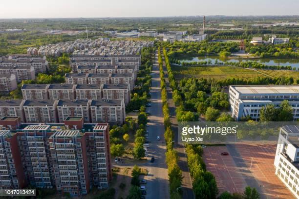 Residential buildings in suburbs