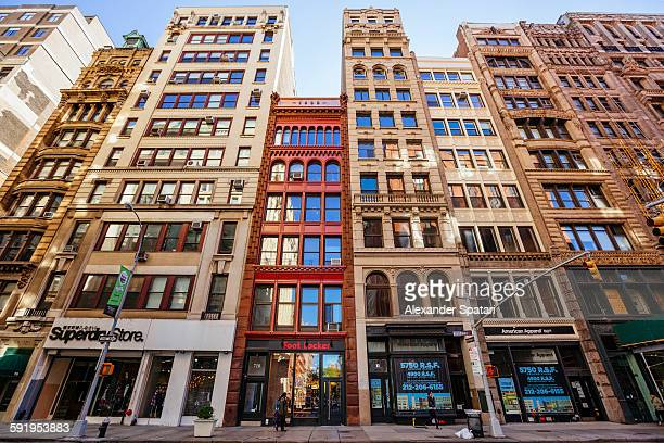 Residential buildings in Tribeca district, NYC