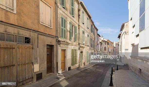 Residential City street, Arles, Cote d'Azur, France
