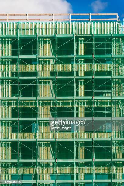 residential construction building site, reykjavik, iceland - 建物の骨組み ストックフォトと画像