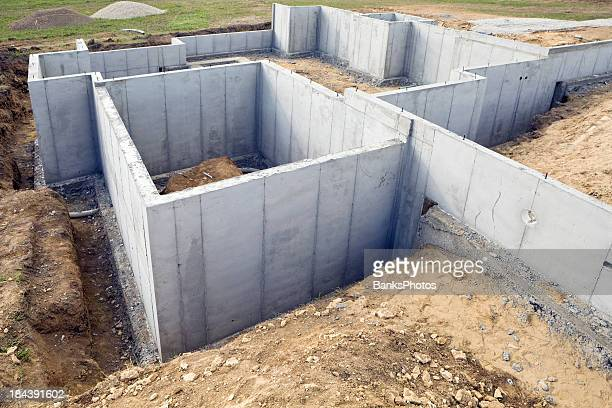 Residential Construction Site Foundation Walls