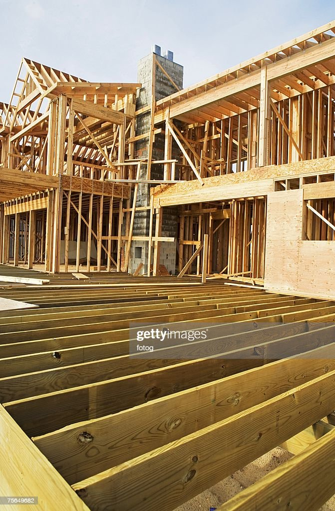 Residential Construction Site Stock Photo - Getty Images