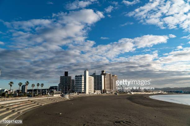 residential district by the beach in kanagawa prefecture of japan - chigasaki stock pictures, royalty-free photos & images