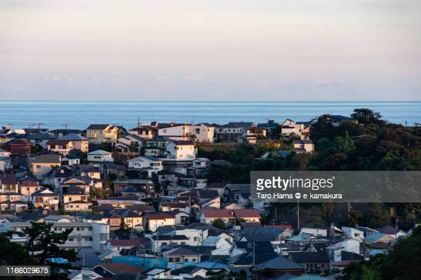 residential district by the sea in japan - chigasaki stock pictures, royalty-free photos & images