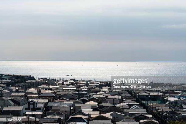 Residential district by the sea in Kamakura in Japan