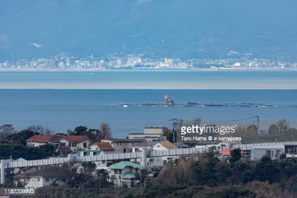 residential district by the sea in kanagawa prefecture of japan - chigasaki stock pictures, royalty-free photos & images