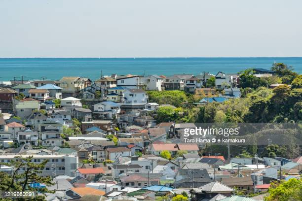 residential district by the sea in kanagawa prefecture of japan - shizuoka stock pictures, royalty-free photos & images