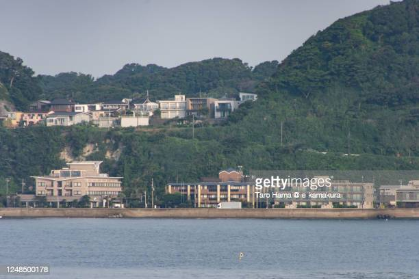 residential district by the sea in kanagawa prefecture of japan - taro hama ストックフォトと画像