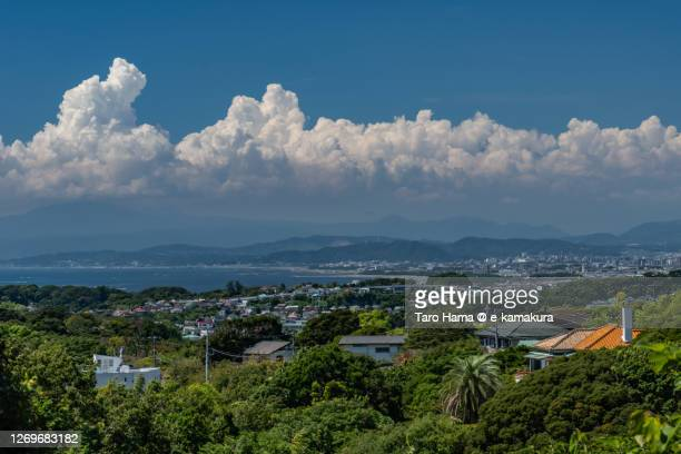 residential district by the sea in kanagawa prefecture of japan - 平塚市 ストックフォトと画像