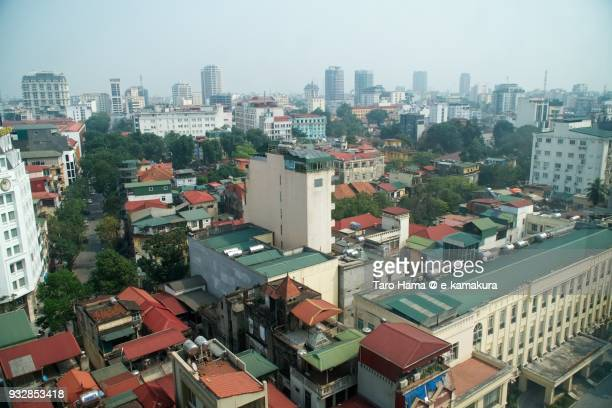Residential district in Hanoi city in Vietnam