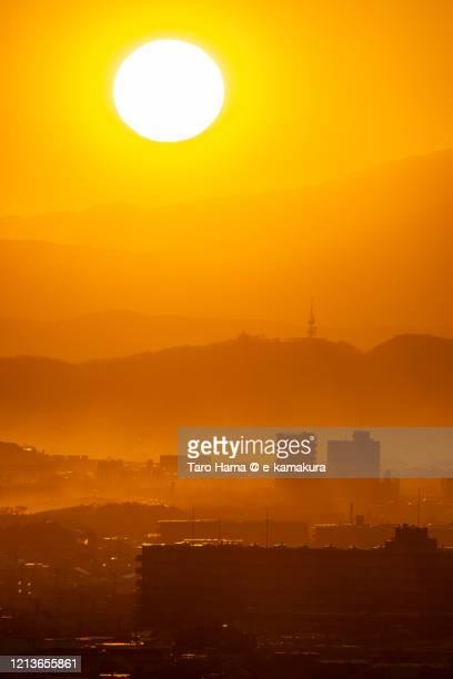 residential district in kanagawa prefecture of japan - paysage enchanteur photos et images de collection