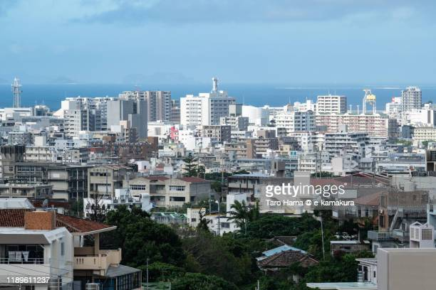 residential district in naha city in okinawa prefecture of japan - 住宅地 ストックフォトと画像