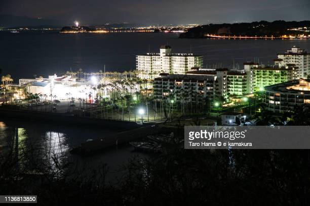 Residential district near Pacific Ocean in Japan